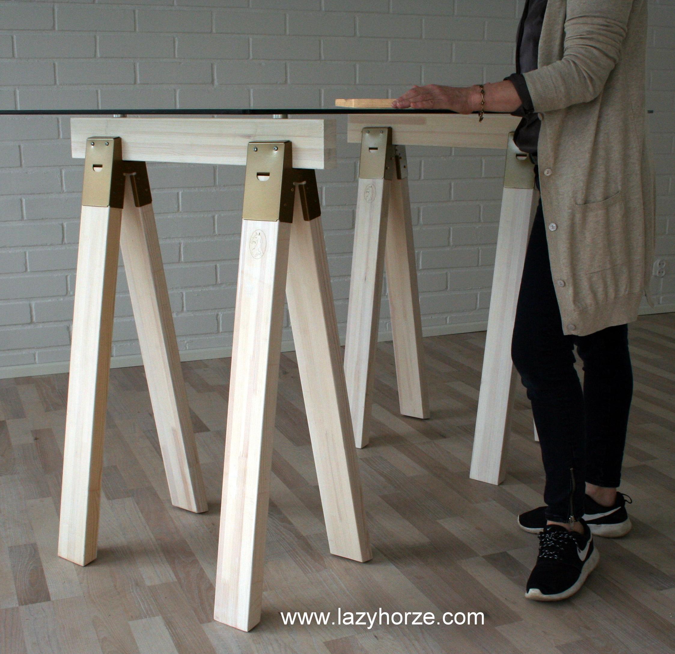 Sawhorse table legs lazyhorze Sawhorse desk legs